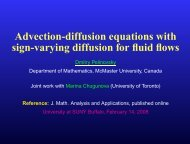 Advection-diffusion equations with sign-varying diffusion for fluid flows