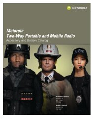 Motorola Two-Way Portable And Mobile Radio - Wiscomm.com