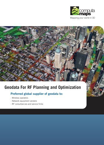 Geodata For RF Planning and Optimization - ComputaMaps