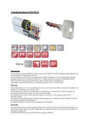 TF Veiligheidscilinder DOM RS-8