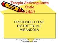 Terapia Anticoagulante Orale (TAO) - Comune di Modena