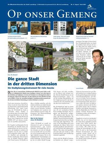 Die ganze Stadt in der dritten Dimension - Ville de Luxembourg