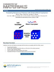 Templating Nanoporous Polymers with Ordered Block Copolymers†