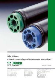 Tube Diffuser - Jäger Umwelt-Technik GmbH & Co. KG