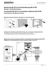 Steuerung SK 32 E und Fernbedienung SK 32 FB - Gasotec