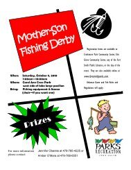 Mother-Son - Fort Smith Parks and Recreation