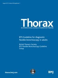 BTS Guideline for diagnostic flexible bronchoscopy in ... - Brit Thoracic