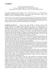 Corte di Cassazione Penale, Sez. un., 9 gennaio 2009 ... - La Tribuna