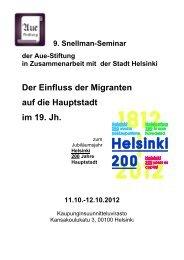 Konzept für ein Snellman-Seminar im Jahre 2009