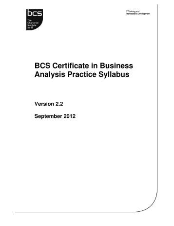 iseb business analysis foundation pdf