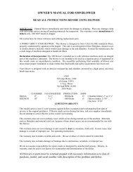 309 Blower Owners Manual & Parts List - Krendl Machine Inc.