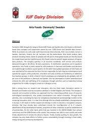 Arla foods - IUF