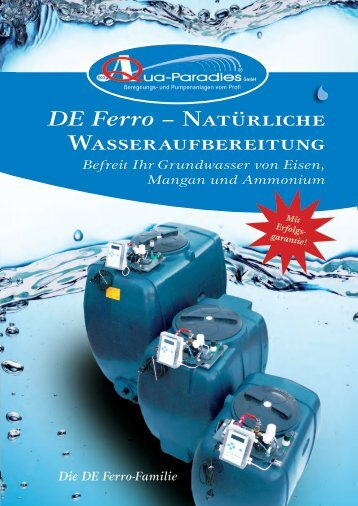 DE Ferro – Natürliche Wasseraufbereitung