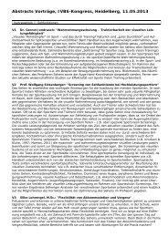 Abstracts aller Vorträge - IVBS – Internationale Vereinigung für ...