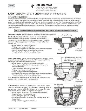 LIGHTVAULT® - LTV71 LED Installation Instructions - Kim Lighting