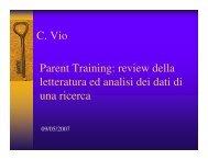 Parent training: review della letteratura e analisi dei dati di ... - Aidai