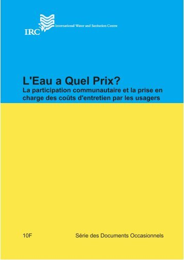 L'Eau a Quel Prix? - ACT - Advanced Communication Technologies