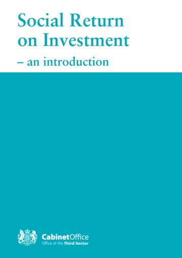 Social Return on Investment - an introduction - The SROI Network