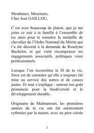 Insigne de l'ordre du Mérite à Mr GAILLOU - Région Guyane