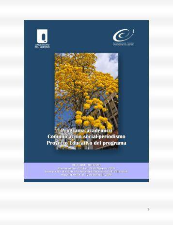 Proyecto Educativo del Programa. - Universidad del Quindio