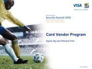 Card Vendor Program - Visa Asia Pacific