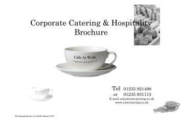 Download Latest Buffet Brochure