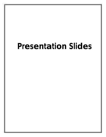 Presentation Slides - National Maternal and Child Oral Health ...