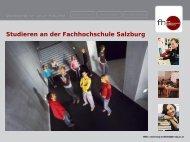 Studieren an der Fachhochschule Salzburg