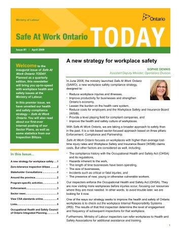 Safe At Work Ontario TODAY - Ontario.ca