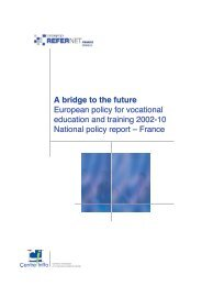A bridge to the future European policy for vocational ... - Europa