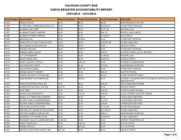 December 2012 - Calhoun County Schools