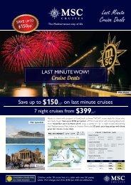 Last Minute Cruise Deals - Cruising.org.au