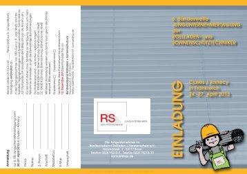 Flyer - Bundesverband Rollladen + Sonnenschutz eV
