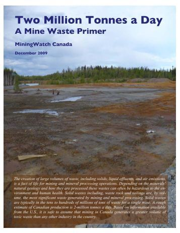 Mine Waste Primer - MiningWatch Canada