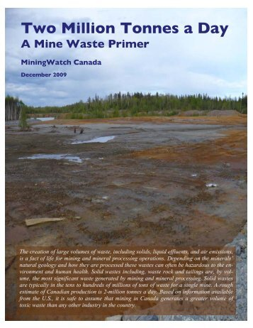 Mine Waste Primer - MiningWatch Canada