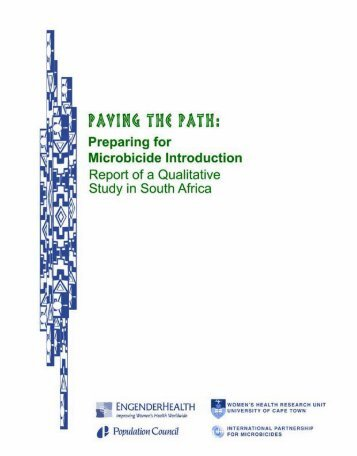 Paving the Path - International Partnership For Microbicides