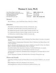 Thomas E. Love, Ph.D. - Rammelkamp Center for Education and ...