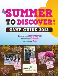 CAMP GUIDE 2013 - Girl Scouts of Greater Los Angeles