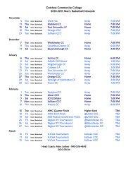 Dutchess Community College 2010-2011 Men's Basketball Schedule