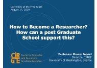 Presentation by Prof Maresi Nerad - KovsieLife - University of the ...