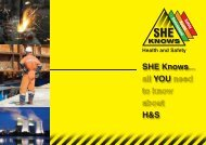 SHE Knows... all YOU need to know about H&S - IOSH conference