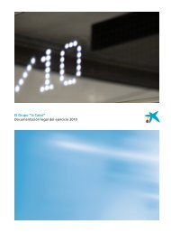 Documentación legal del ejercicio 2010 - la Caixa