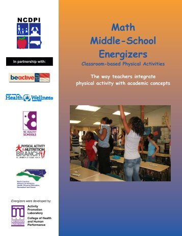 Math Middle-School Energizers - NC Prevention Partners