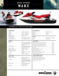 RXP Spec Sheet pdf - Sea-Doo net