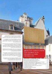 Le projet de rénovation (livre) - Musée des beaux-arts de Dijon
