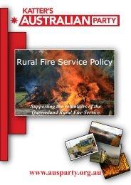 Rural fire service policy - Brisbane Times