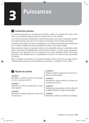 3 Puissances - Didier