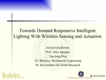 Towards Demand Responsive Intelligent Lighting With Wireless ...