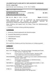 Info - Volkswirtschaftliches Institut - Universität Würzburg