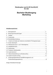 Studienplan für den Bachelor-Studiengang Marketing - Hochschule ...